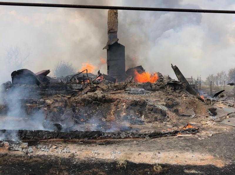 В Борском районе Самарской области выгорела часть сел