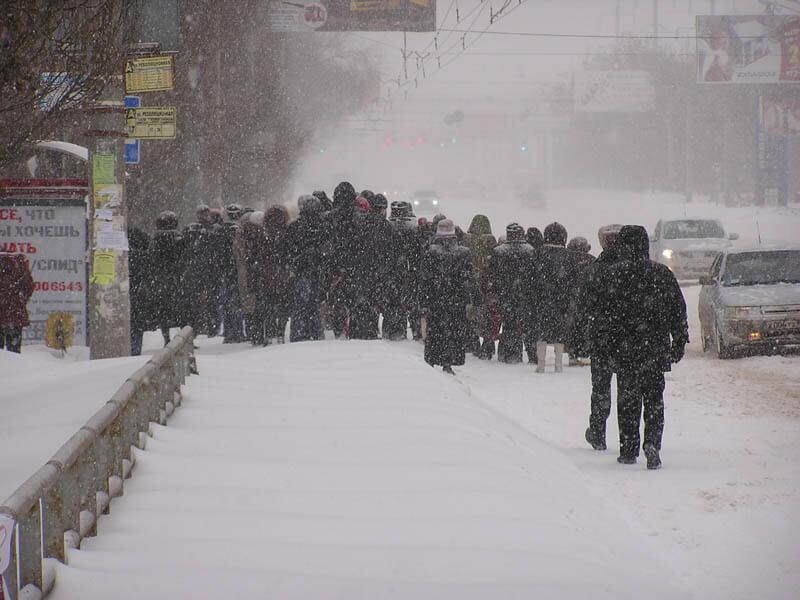 Московский снегопад дошел до Тольятти