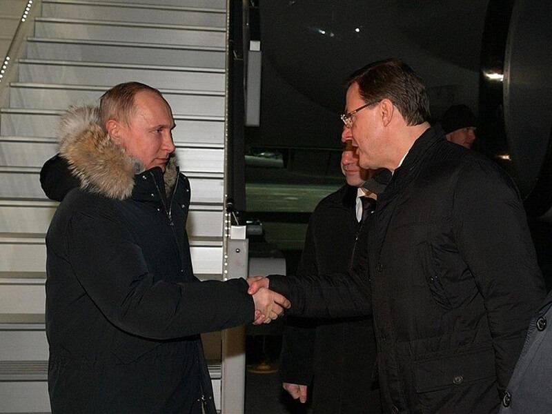 Путин прилетел в Самарскую область на ночь глядя