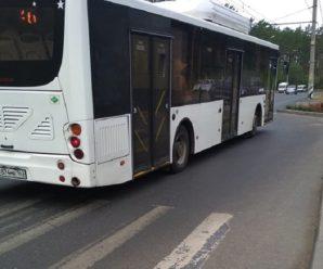 Водители тольяттинских муниципальных автобусов разучились подъезжать к остановкам?