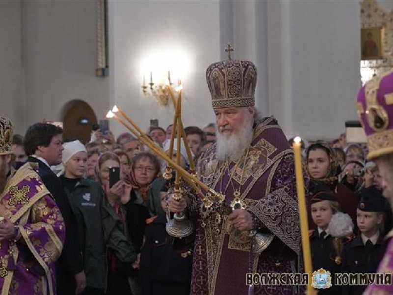 Патриарх Кирилл похвалил тольяттинцев за мысли о духовном