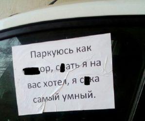 В Тольятти начали грубо стыдить неправильно паркующихся водителей