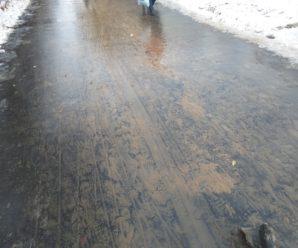 На тротуарах Тольятти начался очередной сезон коричневой жижи