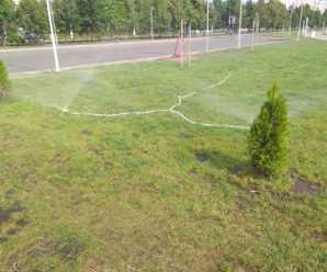 В тольяттинском сквере к 50-летию АВТОВАЗа обнаружились газонные поливалки