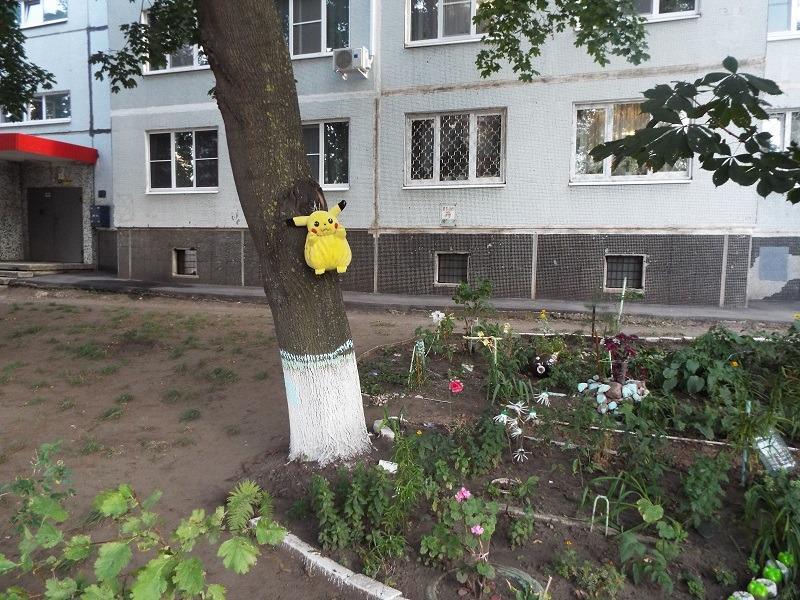ЖЭК-арт Тольятти: повешенный Пикачу